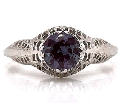 Lab-Created Alexandrite Vintage Style Ring