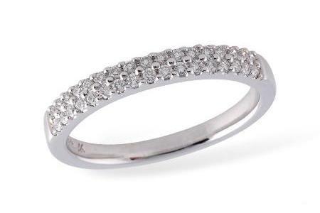 2-Row Diamond Wedding Ring