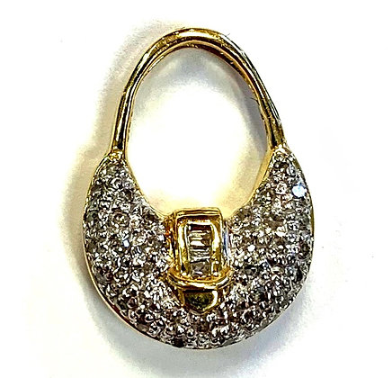 Diamond Pave Purse Pendant