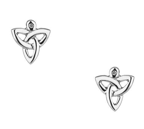 """""""Trinity"""" Diamond Stud Earrings"""