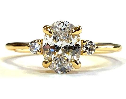 Three-Stone Engagement Ring Mounting