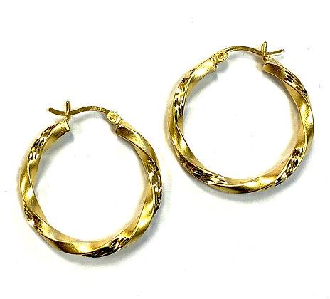 Gold Plated Silver Hoop Earrings
