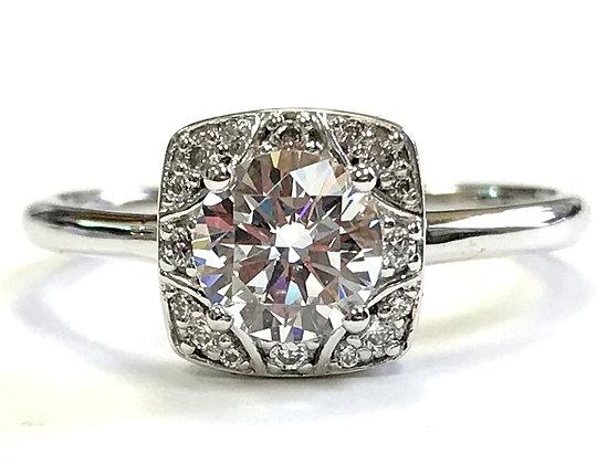 Star Halo Diamond Engagement Ring Mounting