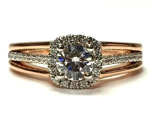 """Ainsley"" Diamond Halo Ring Mounting"
