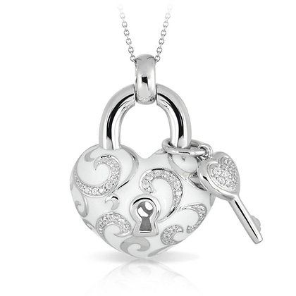 """""""Key to My Heart"""" White Necklace"""