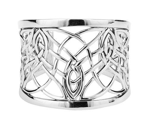"""Elven"" Intricate Celtic Knotwork Cuff Bracelet"
