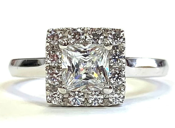 Square Halo Engagement Ring Mounting