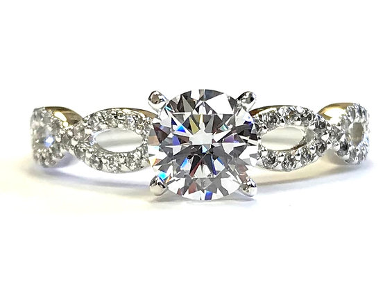 Infinity Diamond Engagement Ring Mounting