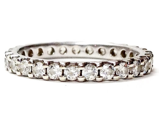 Eternity Inside Shared Prong 1.00 Carat Round Brilliant Cut Diamond Band