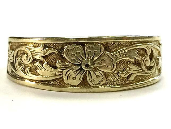 Vintage Reproduction Floral Ring