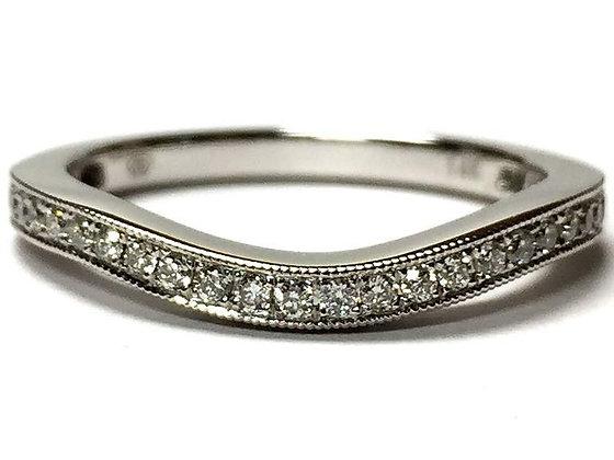 Fitted Diamond & Milgrain Wedding Ring