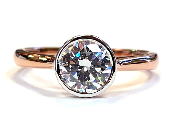 """Lexi"" Bezel Set Solitaire Ring Mounting"