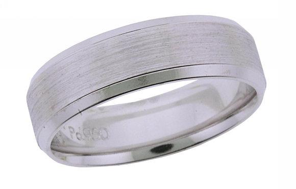 Brushed & Beveled Wedding Ring