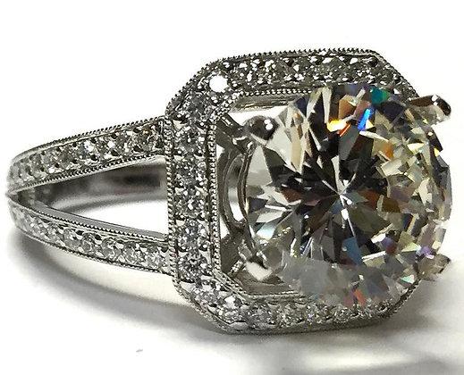 Octagonal Halo Diamond Ring Mounting