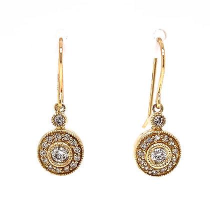 Diamond Halo Dangle Earrings