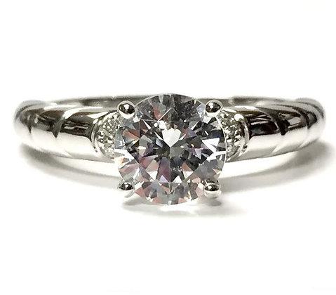Fan Design Diamond Engagement Ring Mounting