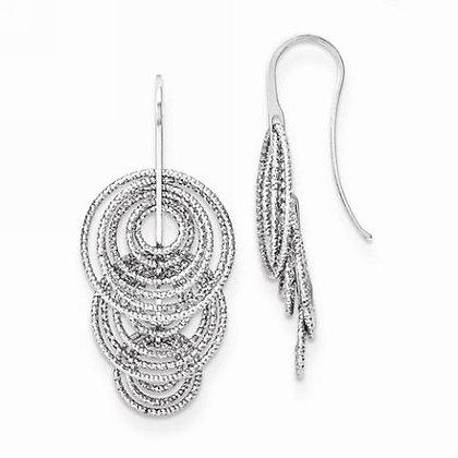 3D Circles Sparkle Dangle Earrings