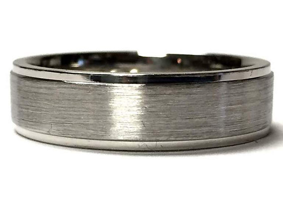 Brushed & Polished Wedding Ring