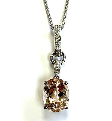 Morganite & Diamond Necklace