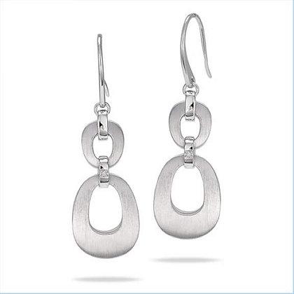 Oval Dangle Earrings w/ Diamond Accent
