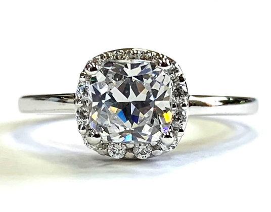 Cushion Halo Engagement Ring Mounting