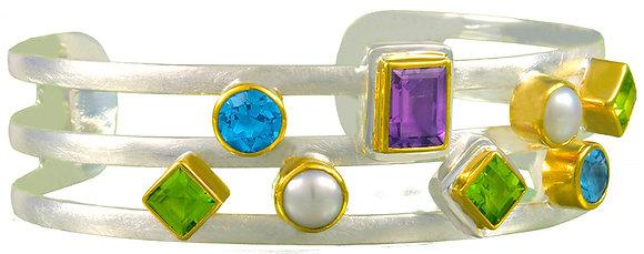"""Open Space"" Geometric Cuff Bracelet"