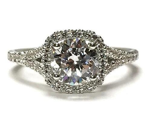 """Adrianna"" Diamond Halo Engagement Ring Mounting"