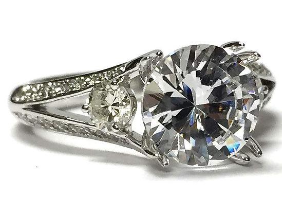 3-Stone Diamond Engagement Ring Mounting