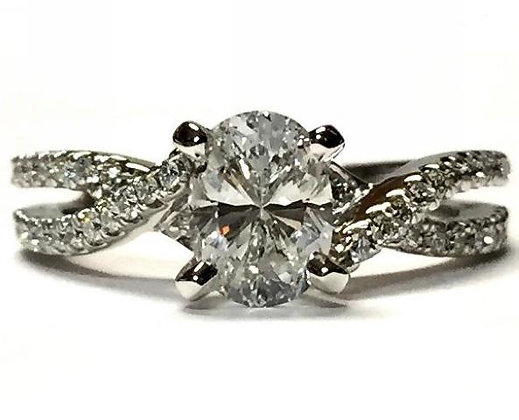 Contemporary Twist Engagement Ring Mounting