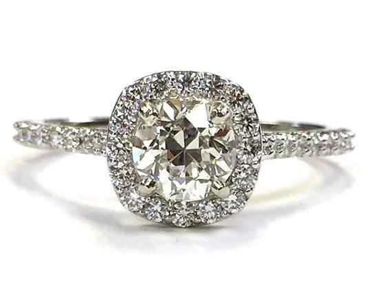 Diamond Halo Engagement Ring Mounting