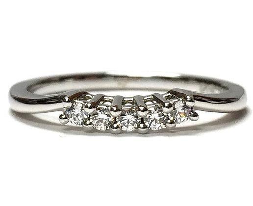 """Beulah"" Diamond Wedding Ring"