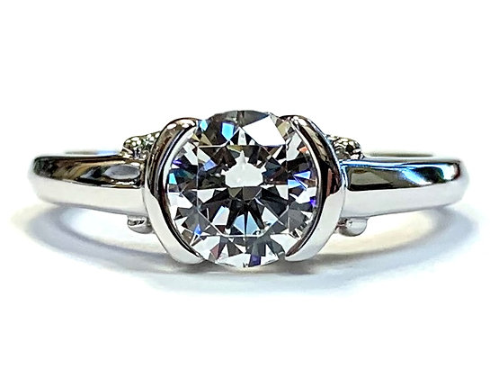 """J""s Peek-A-Boo Diamond Ring Mounting"