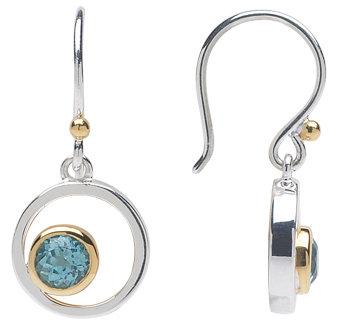 """""""Askew"""" Earrings - Swiss Blue Topaz"""