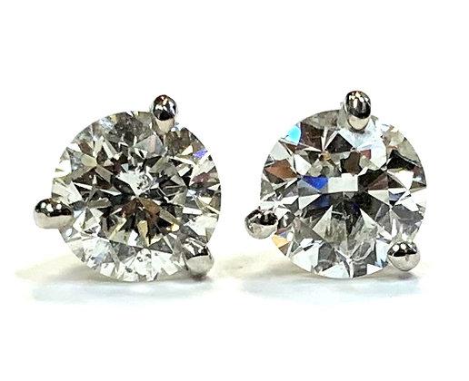 Diamond Stud Earrings 1.82 CTW