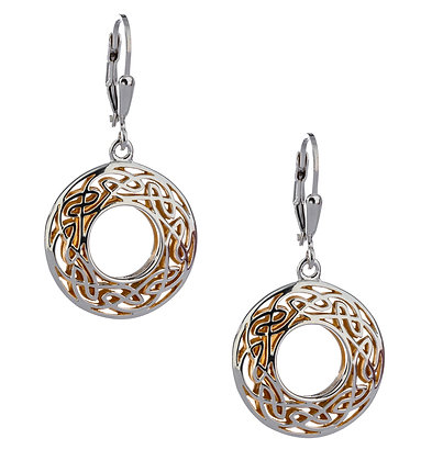"""Window To The Soul"" Round Dangle Earrings"