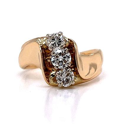 Vertical Diamond 3-Stone Ring