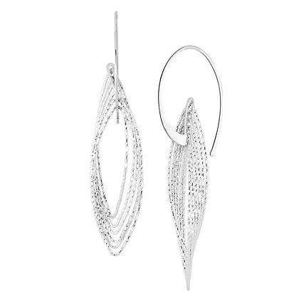 Cascading Navette Drop Earrings