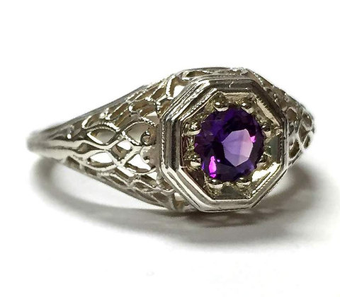 Vintage Reproduction Amethyst Ring