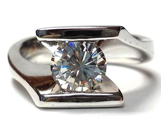 Bypass Solitaire Engagement Ring Mounting