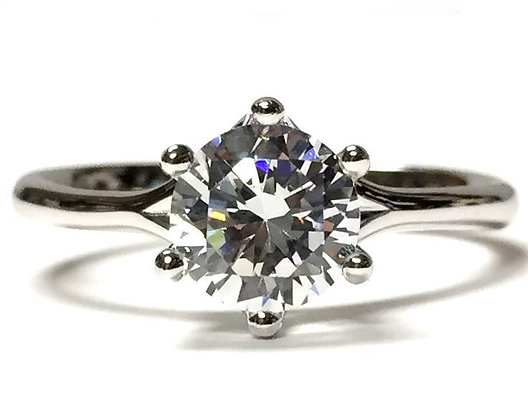 Tulip Solitaire Engagement Ring Mounting