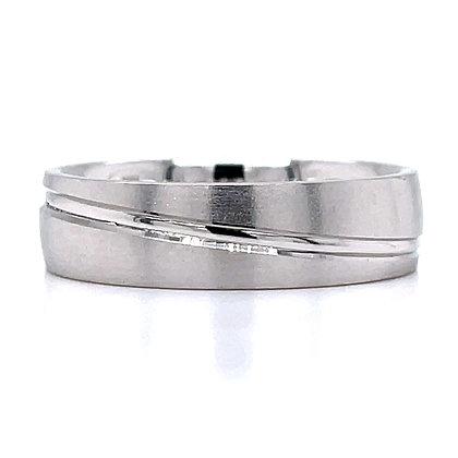 Wave Line Wedding Ring