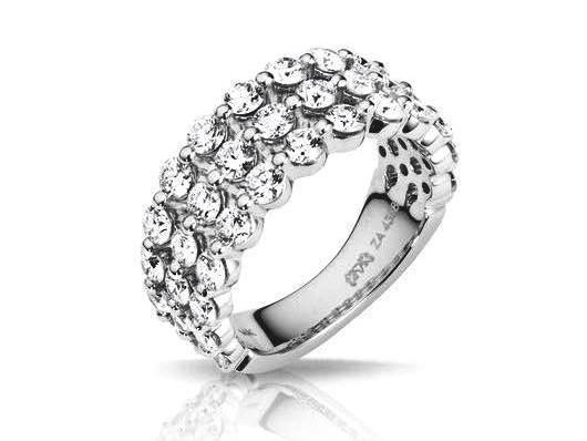 """Sydney"" 3-Row Diamond Ring"