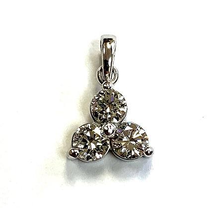 3-Stone Diamond Pendant