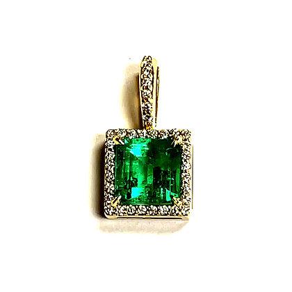 Emerald Halo Pendant