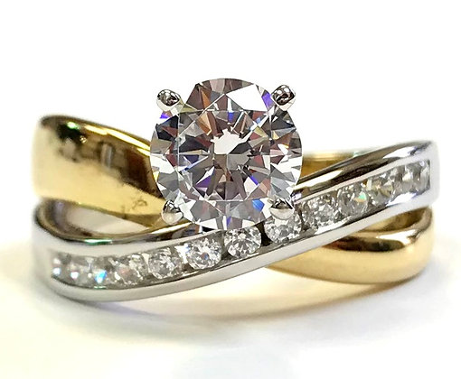 Crossover Engagement Ring Mounting