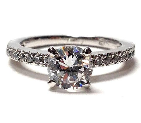 Shared Split Prong Diamond Ring Mounting