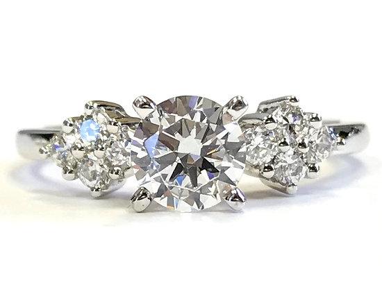 Navette Shoulder Diamond Engagement Ring Mounting