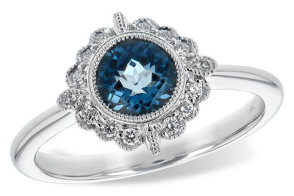 Vintage-Inspired Blue Topaz Ring