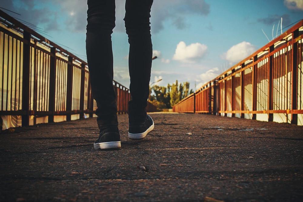 feet walking in obedience