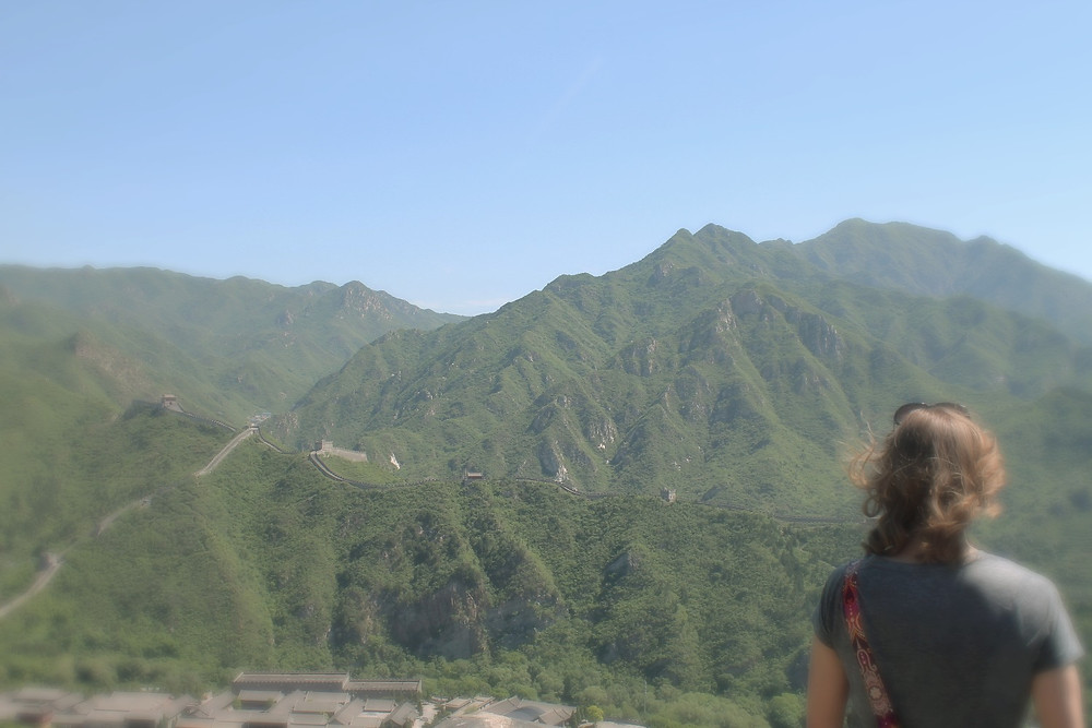 Lauren staring over The Great Wall of China